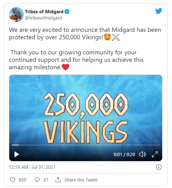 Tribes of Midgard Twitter