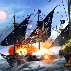 Under the Jolly Roger naval combat