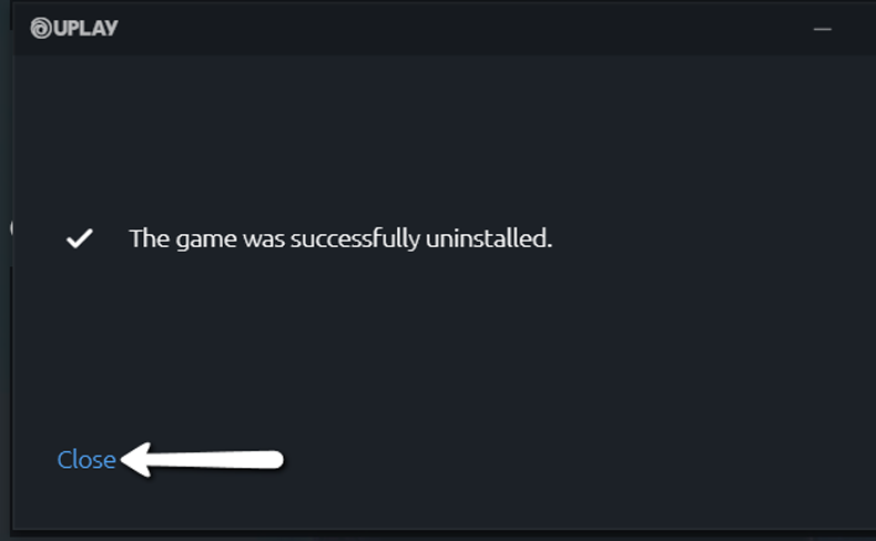 Uninstall on Uplay 3