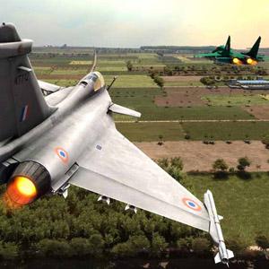 Jet Fighter On Mid Flight
