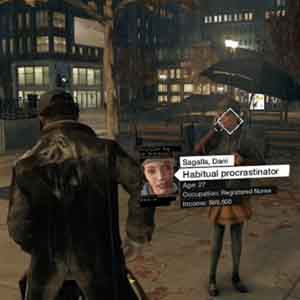 Watch Dogs PS4 : Analyzing people