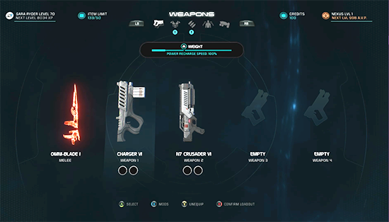 Mass Effect Andromeda Weapons