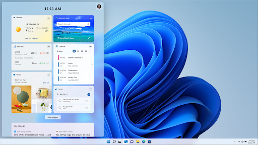How do I activate Widgets on Windows 11?