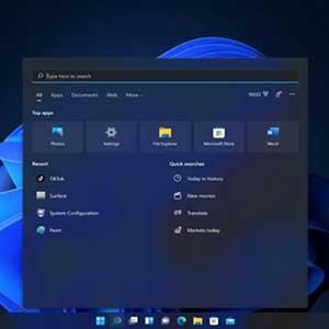 Windows 11 Pro OEM Start Menu