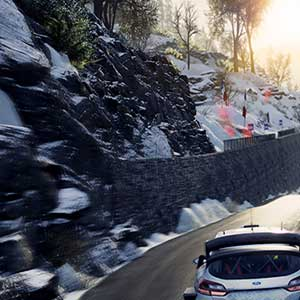 WRC 8 FIA World Rally Championship snowfall